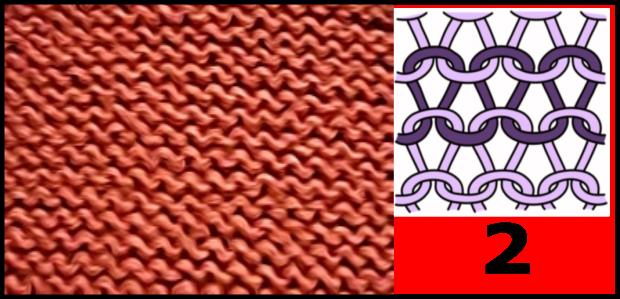 Reverse stockinette stitch pattern