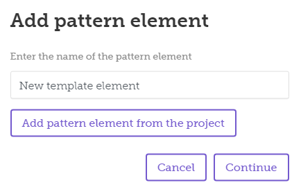 add pattern element
