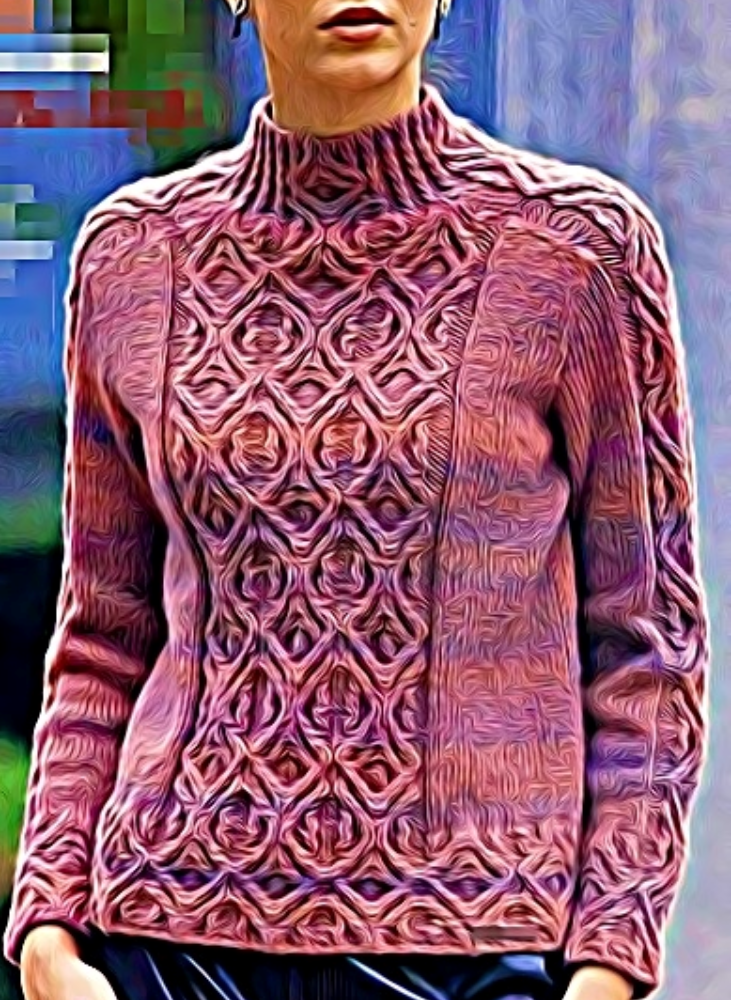 Cable stitch sweater