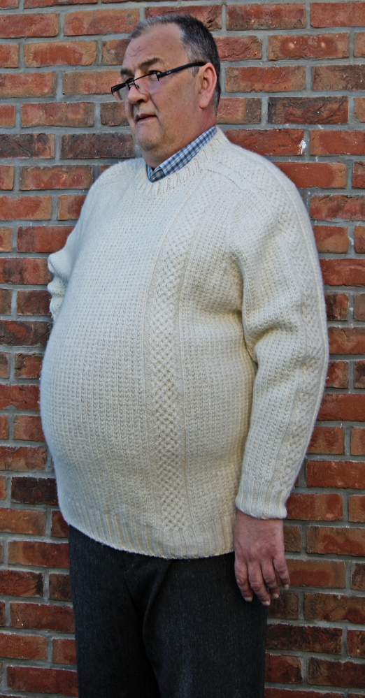 Plus size knitting sweater for men