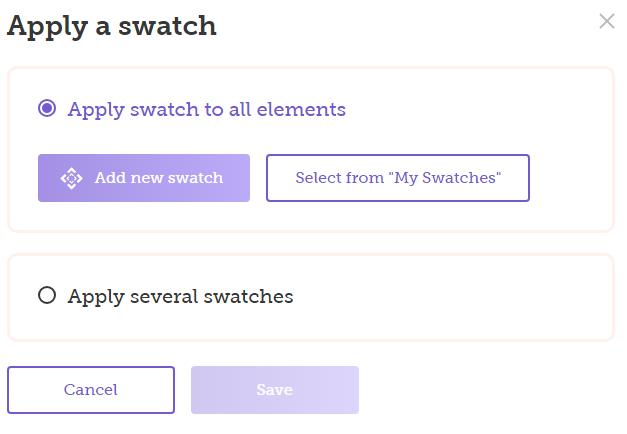 Apply a swatch