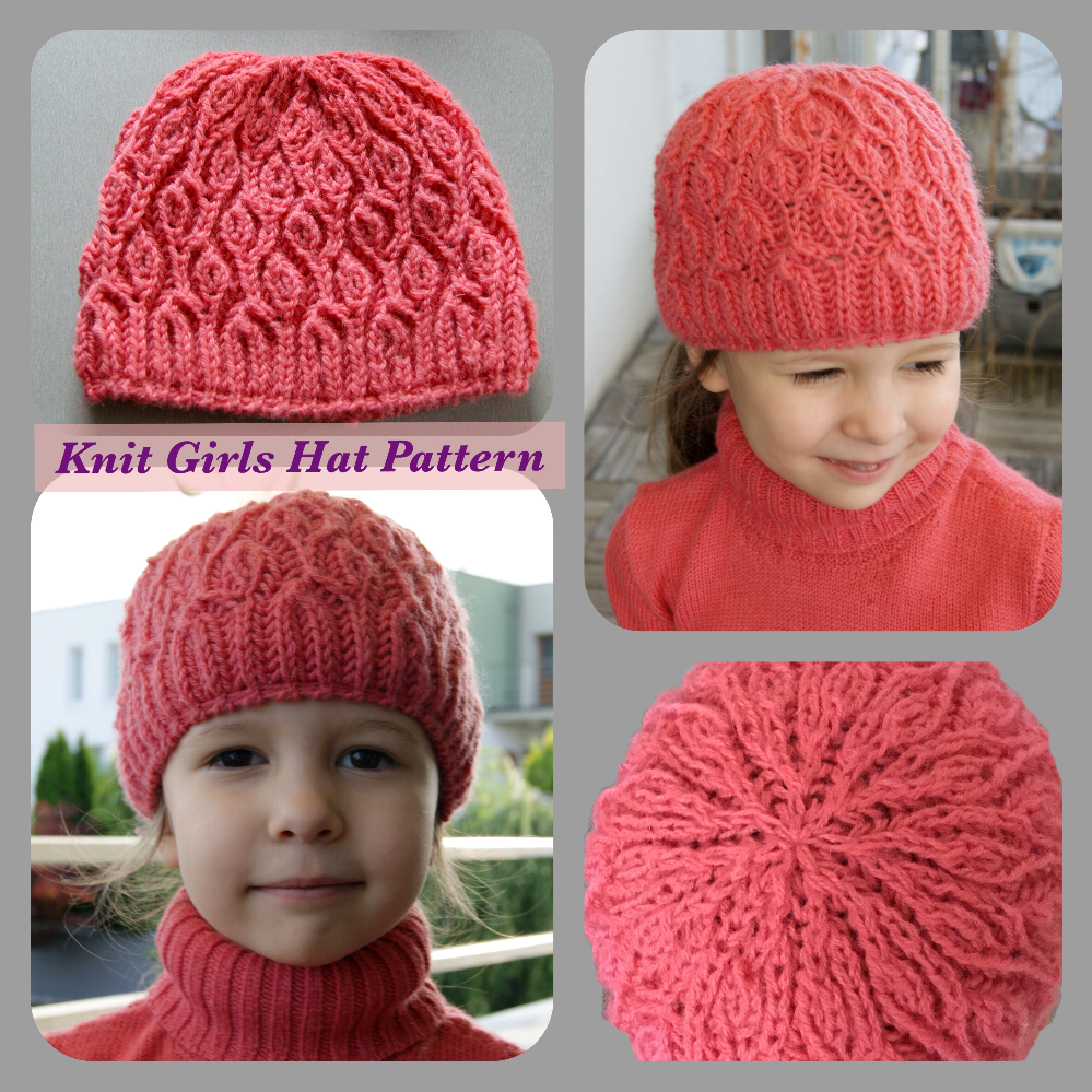 Knit girl hat