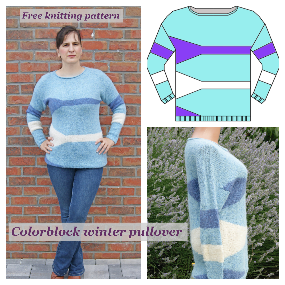 Colorblock women pullover.